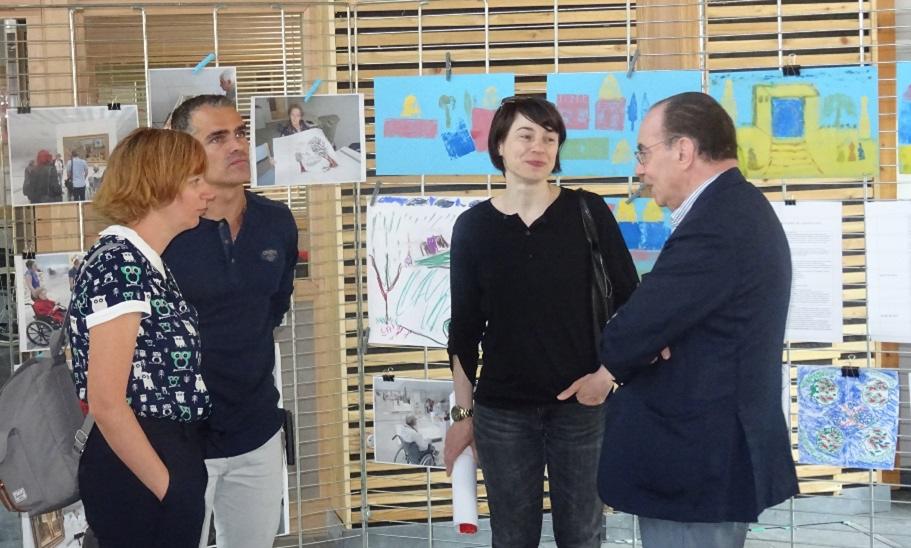 Me Blutte, médiatrice au Louvre-Lens ; Fabien Leloir, référent culturel ; Alice Cornier, conservatrice du musée de Cambrai et le Dr Joël Cliche, Président